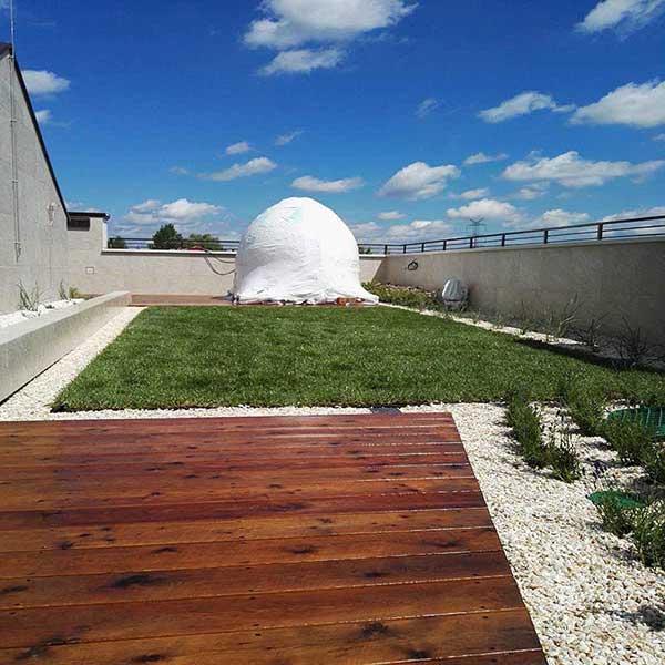 Gotowy ogród na dachu