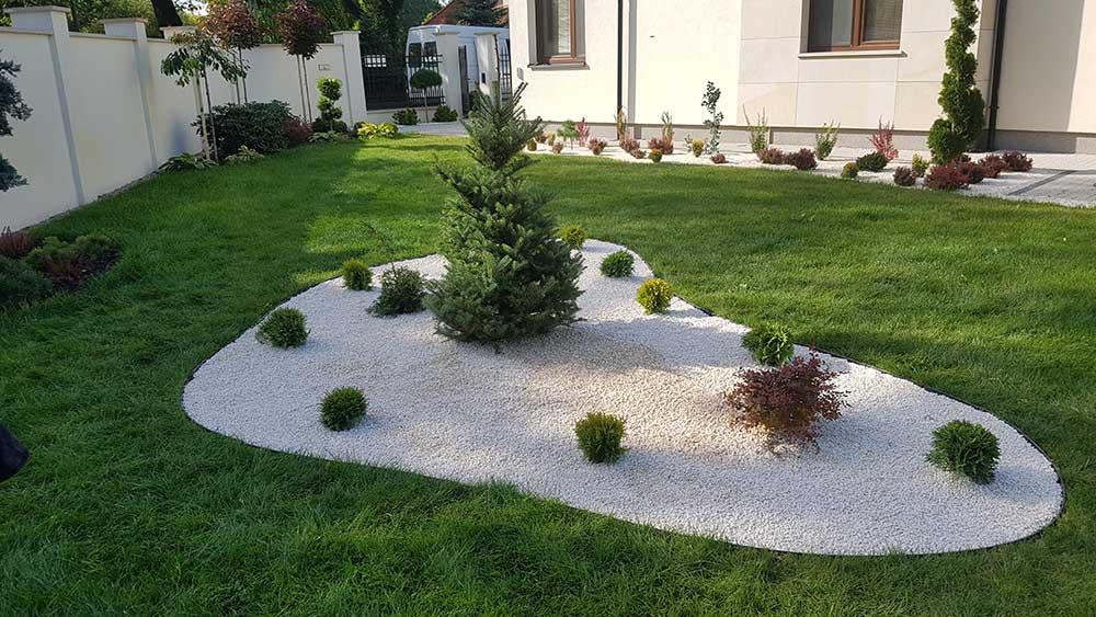 nowoczesne ogrody klomb